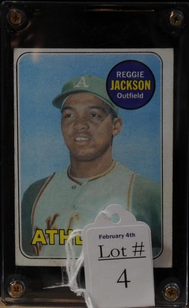 1969 Reggie Jackson Baseball card...Good Quality, Stats Listed on Back.