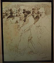 Edouard Jacques DUFEU (1840-1900) . Etude de personnage.