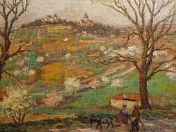 Raoul LANTERNIER (1870-1960?). Vue du vieux