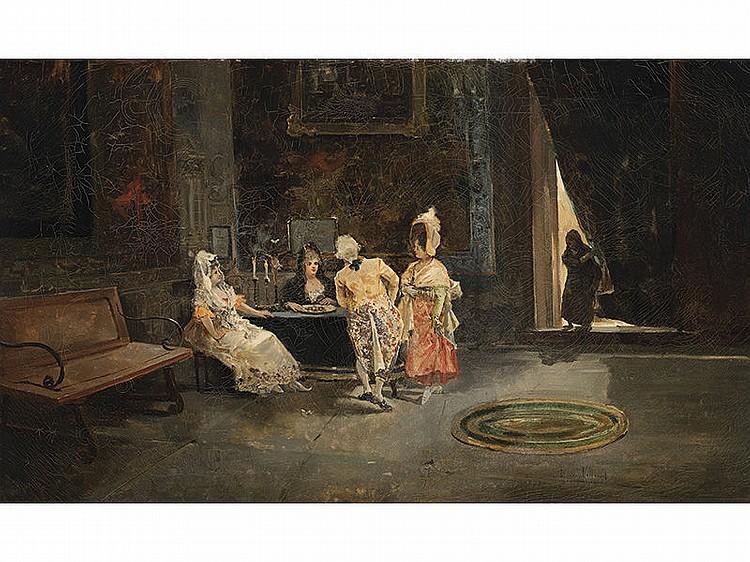 EUGENIO LUCAS VILLAAMIL (Madrid, 1858-1919) - Indoor scene