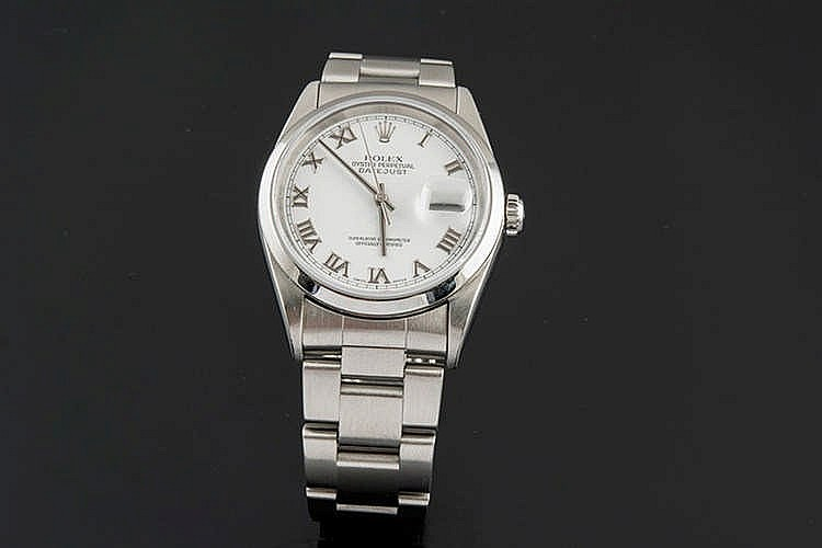 ROLEX OYSTER PERPETUAL DATE JUST WRISTWATCH