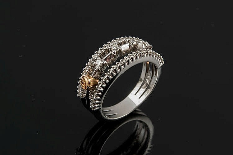 A GOLD AND DIAMOND RING, BY DAMIANI
