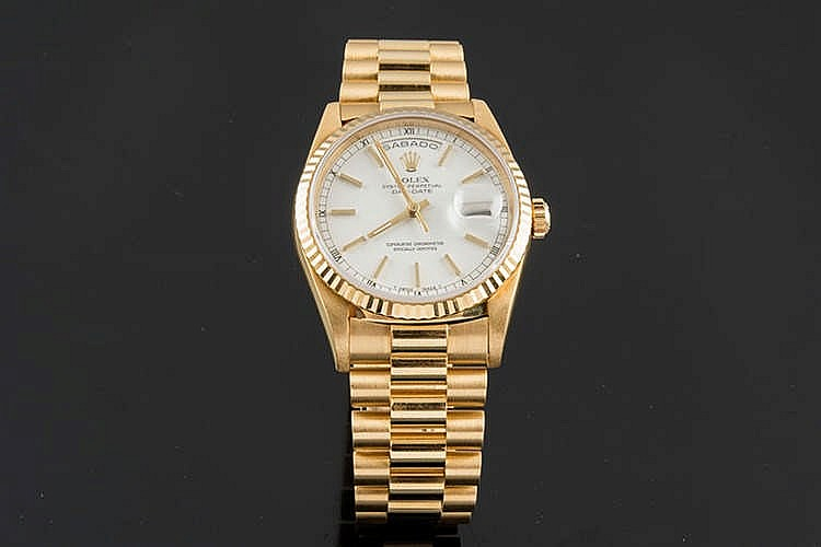ROLEX OYSTER PERPETUAL DAY-DATE WRISTWATCH