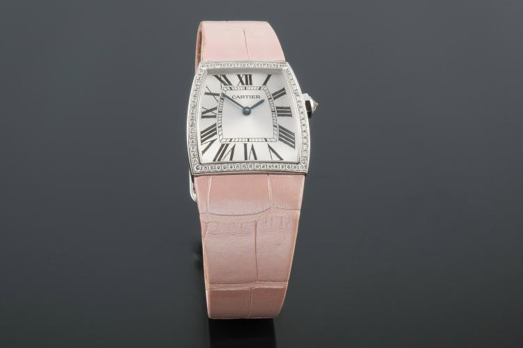 CARTIER LA DOÑA GM WHITE GOLD AND DIAMONDS WATCH