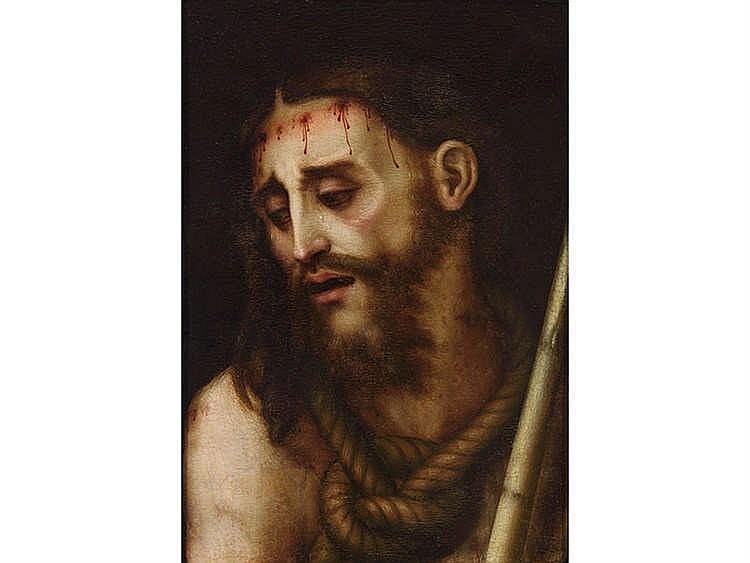 LUIS DE MORALES (Badajoz, 1509-Alcántara, 1586) Ecce homo