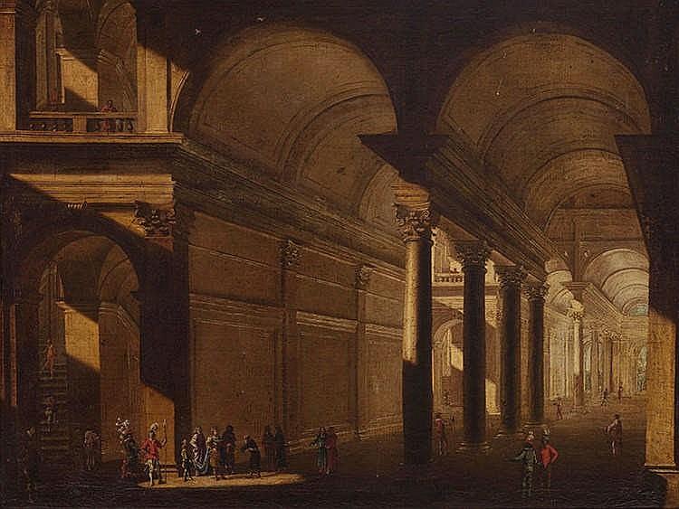ITALIAN SCHOOL, 18TH CENTURY Architectural Interior