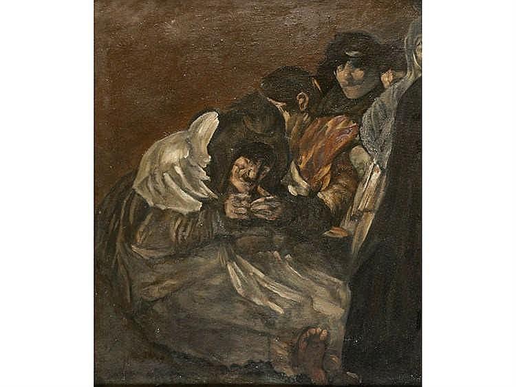 BALDOMERO ROMERO RESSENDI (Seville, 1922 - Madrid, 1977) Las ancianas
