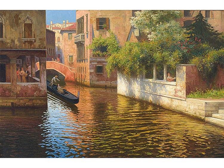 JUÁN JOSÉ GÁRATE (Albalate del Arzobispo, Teruel, 1869 – Madrid, 1939) Canales de Venecia