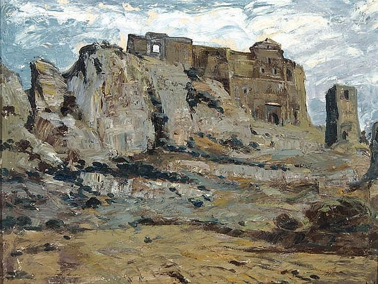 JOSE BEULAS (Santa Coloma de Farnés, Gerona, 1921) Castillo de Loarre