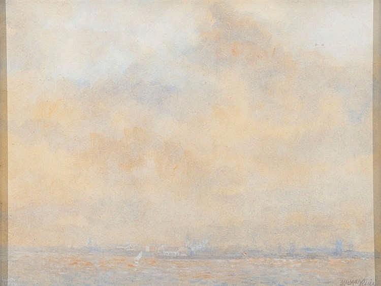 GUILLERMO VARGAS RUIZ (Bollullos de la Mitación, Sevilla, 1910- Madrid, 1990) Landscape