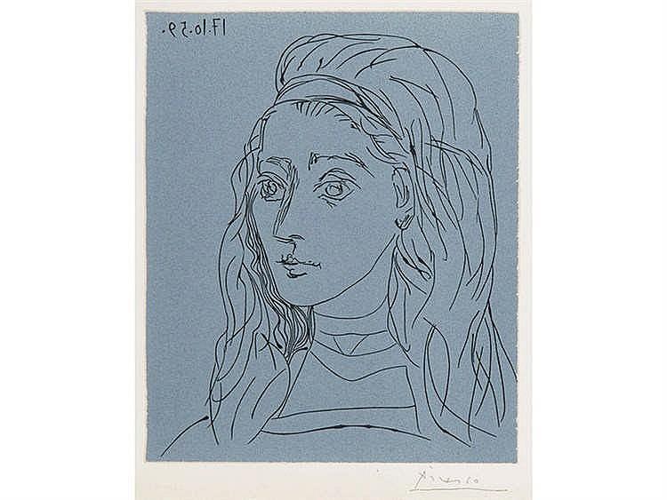 PABLO RUIZ PICASSO (Malaga, 1881-Mougins, 1973) Retrato de Jacqueline