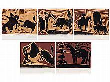 PABLO RUIZ PICASSO (Malaga, 1881-Mougins, 1973) Corrida linograbado suite, 1959