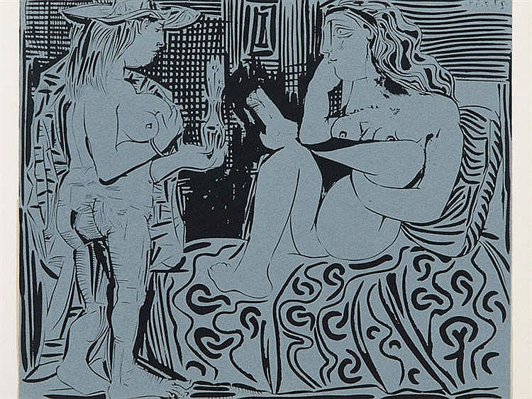 PABLO RUIZ PICASSO (Malaga, 1881-Mougins, 1973) Two women