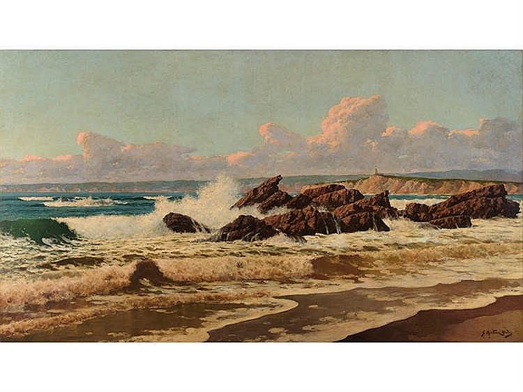 JUÁN MARTÍNEZ ABADES (Gijón, Principado de Asturias, 1862 -Madrid, 1920) Marine