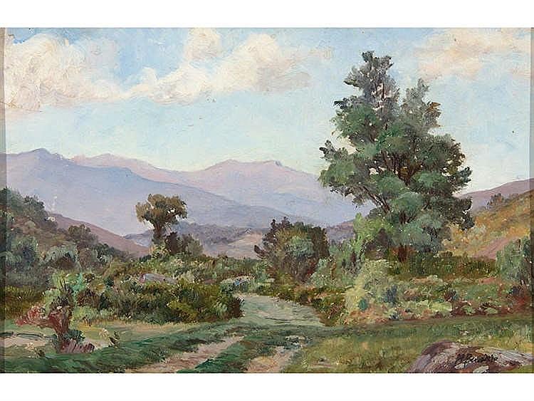 MANUEL BENEDITO VIVES ( Valencia, 1875-Madrid, 1963) Landscape