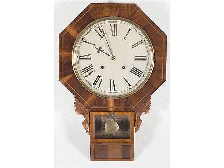 AN AMERICAN WALL CLOCK, CIRCA 1890