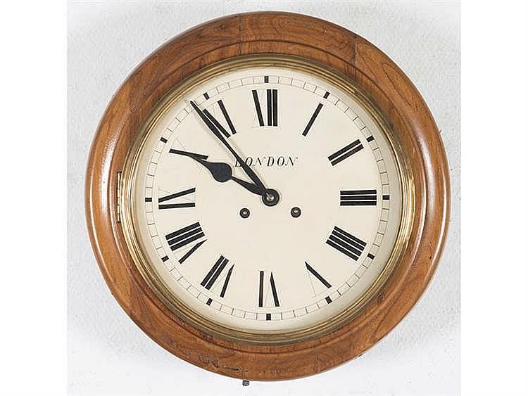 AN ENGLISH WALL CLOCK, CIRCA 1900