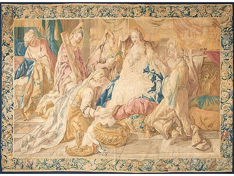 A FRENCH TAPESTRY, 18TH CENTURY