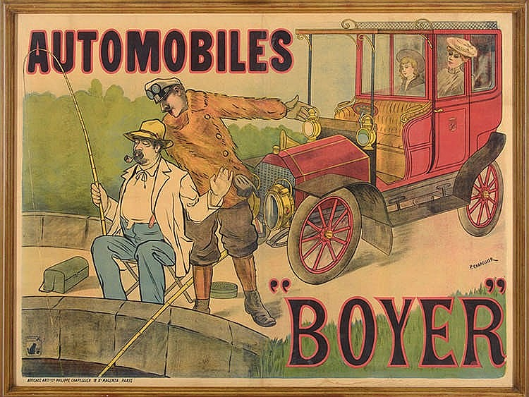 AUTOMOBILES BOYER ADVENTISTING POSTER