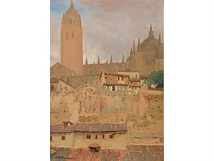 FRANCISCO NÚÑEZ LOSADA (Candelario, Salamanca, 1899-Madrid 1973) Vista de Segovia