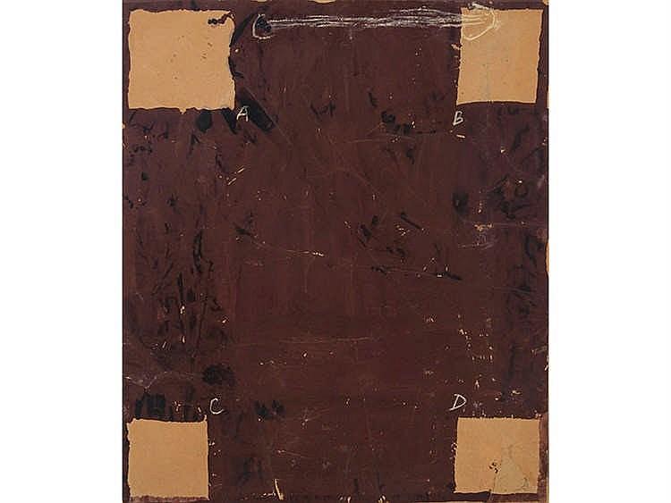 ANTONI TAPIES (Barcelona, 1923-1912) GRAN MARRÓN, 1977