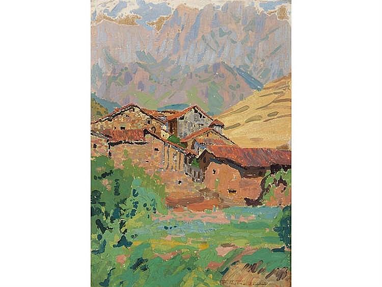 FRANCISCO NÚÑEZ LOSADA (Candelario, Salamanca, 1889-Madrid, 1973) Mountainous Landscape