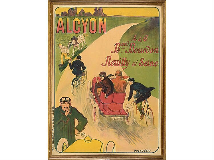 ALCYON AUTOMOBILE ADVENTISTING POSTER