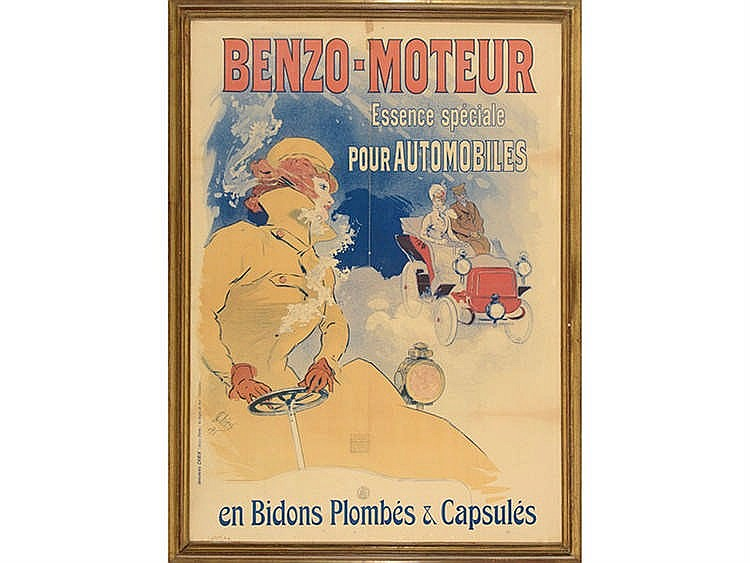 BENZO-MOTEUR ADVENTISTING POSTER