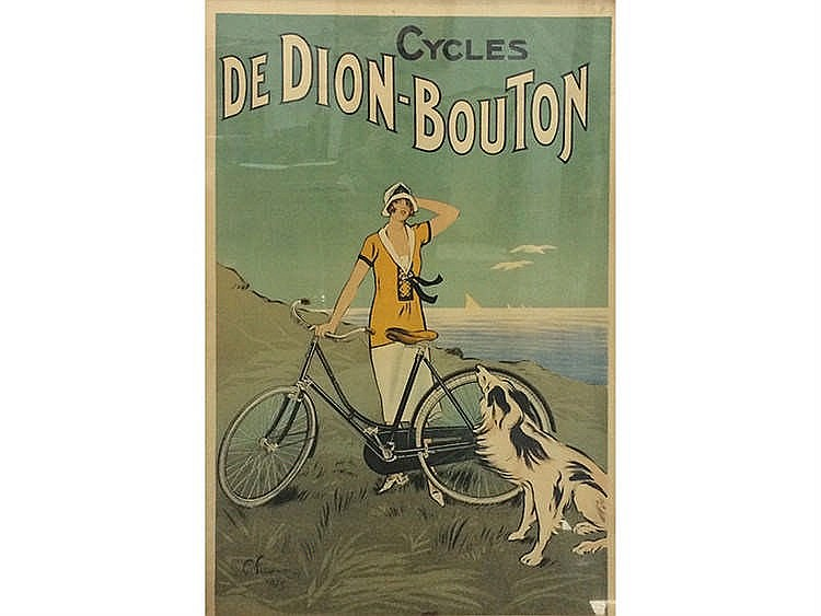 CYCLES DE DION-BOUTON ADVENTISTING POSTER