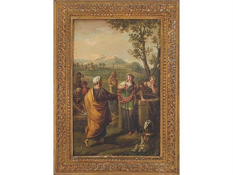 ZACARÍAS GONZÁLEZ VELÁZQUEZ (Madrid, 1763-1834) Rebeca y Eliecer