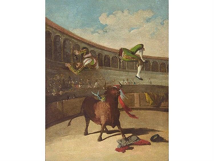CIRCLE OF EUGENIO LUCAS La cogida del torero