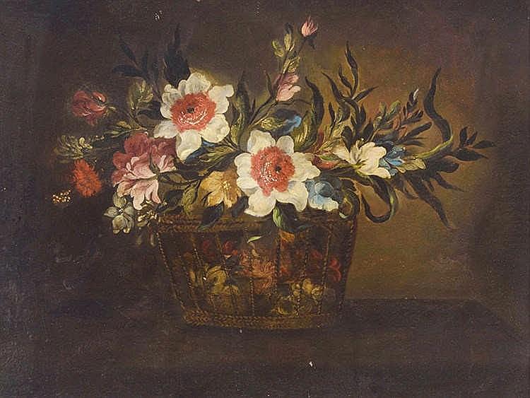 CIRCLE OF JUÁN DE ARELLANO Cesta de flores