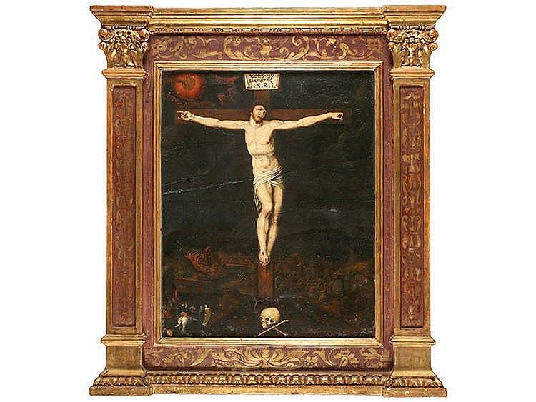 FLEMISH SCHOOL, LATE 16TH CENTURY Christ Crucified