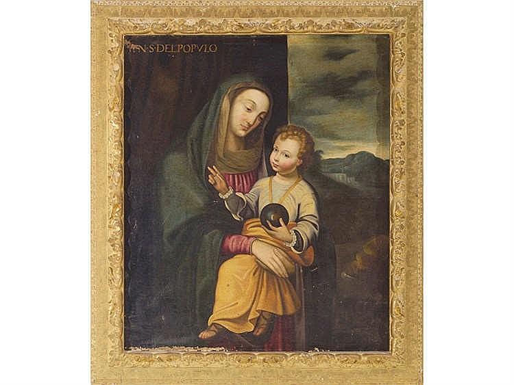 ITALIAN SCHOOL, LATE 17TH CENTURY Virgin and the Child