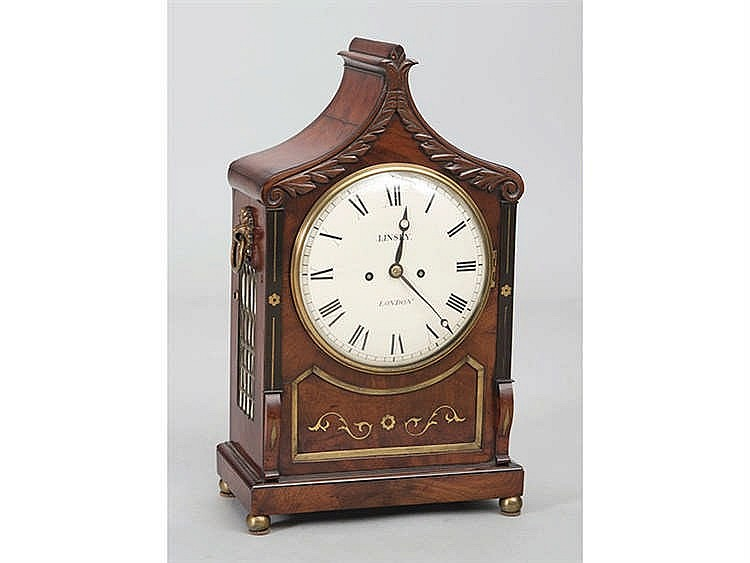 AN ENGLISH BRACKET CLOCK, CIRCA 1850