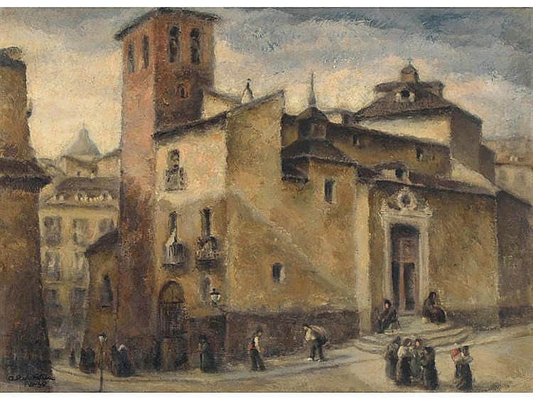 AGUSTÍN REDONDELA (Madrid, 1922 - 2015) Iglesia de San Pedro