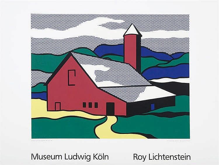 ROY LICHTENSTEIN (New York, 1923-1997) Red Barn II