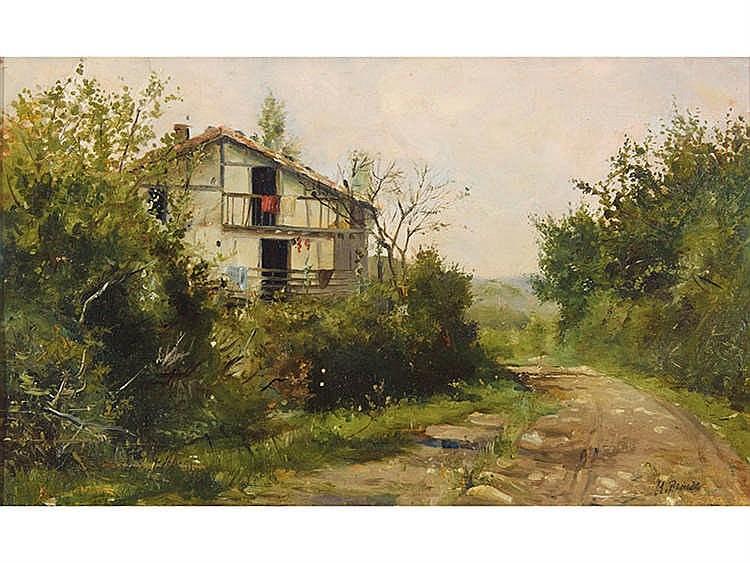 MANUEL BENEDITO VIVES (Valencia, 1875-Madrid, 1963) Landscape with Masia