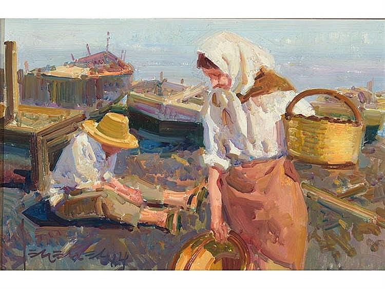 EUSTAQUIO SEGRELLES (Albaida, Valencia, 1936) Pescadora valenciana