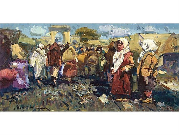 EUSTAQUIO SEGRELLES (Albaida, Valencia, 1936) Zoco árabe