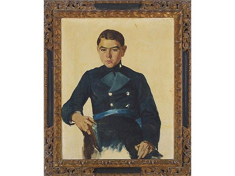 JUAN JOSE ZAPATER (Valencia, 1867-1922) Retrato de Pedro Juan Martínez Pardo