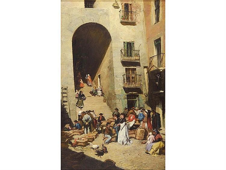 FRANCISCO PRADILLA Y ORTIZ (Villanueva de Gállego, Zaragoza, 1848 - Madrid, 1921) Arco de cuchilleros