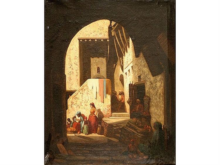 CIRCLE OF ALEXANDER GABRIEL DECAMPS Escena moruna
