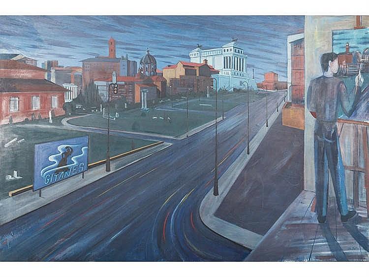 *DIS BERLIN* MARIANO CARRERA BLAZQUEZ (Ciria,Soria,1959) El pintor en un paisaje urbano