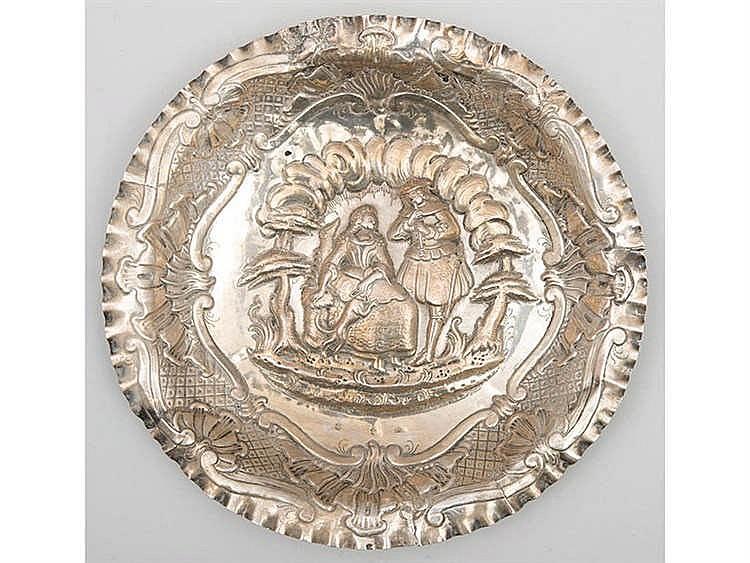 A SILVER TRAY, CIRCA 1780
