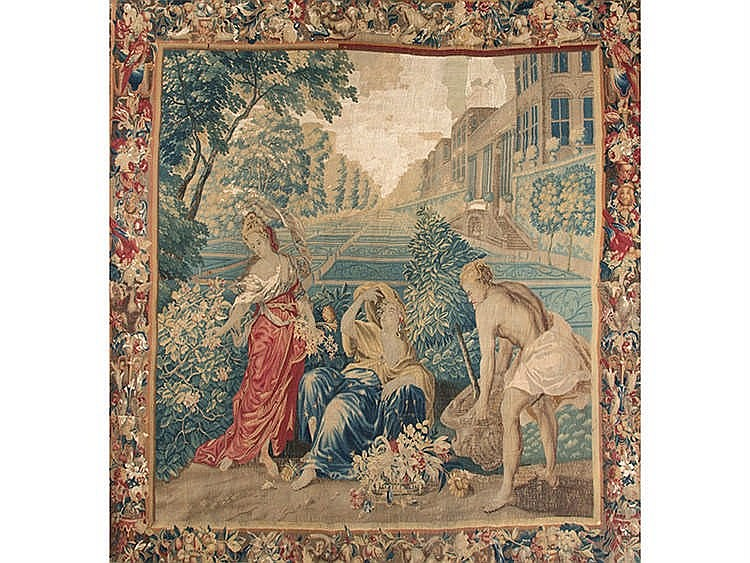 A FRENCH TAPESTRY, CIRCA 1710-1720