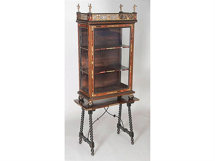 A NEAPOLITAN DISPLAY CABINET, 19TH CENTURY
