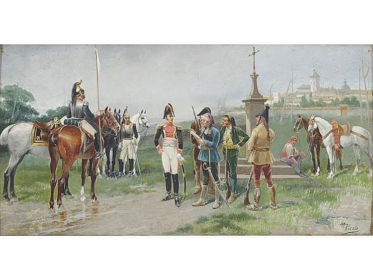 MANUEL PICOLO (Murcia, 1855-1912) Soldados