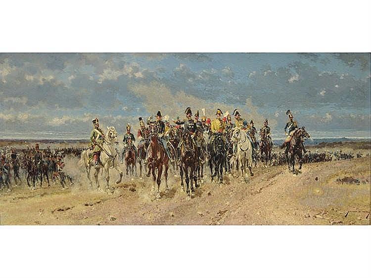 MARCELINO DE UNCETA (Zaragoza, 1835-Madrid, 1905) Tropas de caballería