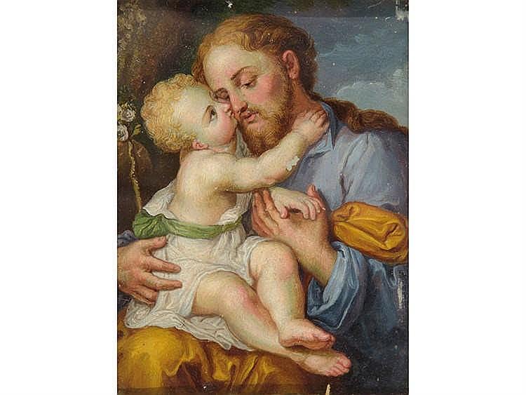 SPANISH SCHOOL, 18TH CENTURY Saint Joseph and the Child
